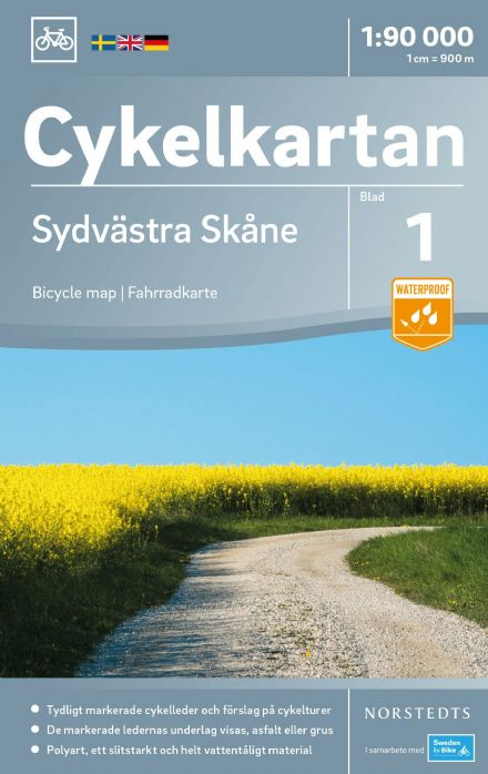 Sweden Cycling Map 01 - Skane South West